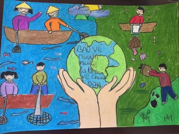 vẽ tranh bảo vệ môi trường